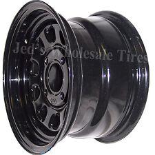 """1) 12"""" 12x7 5+2 4/110 ITP Delta Steel Black D-Window DOT RIM WHEEL D12F511 10mm"""