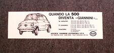 I931- Advertising Pubblicità -1975- QUANDO LA 500 DIVENTA GIANNINI