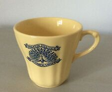 1940's WW2 Paignton Zoological & Botanical Gardens Yellow Fluted Cup Peacock