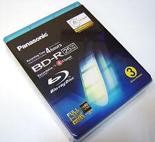 3 DISCHI Pack Panasonic BD-R 25 GB 4 H Blu ray Registrabile SCRIVIBILE GIOIELLO Casi
