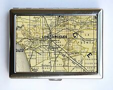 Los Angeles Map Cigarette Case Wallet Business Card Holder id case la map