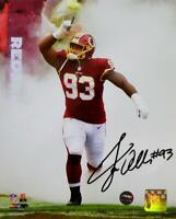 Jonathan Allen Autographed Redskins 8x10 PF Photo In Smoke- Prova Auth *Black