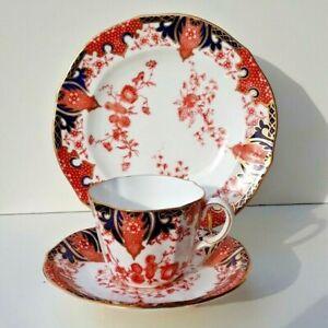 Vintage Royal Crown Derby Imari Gilded China Trio - 'Pattern 2412'  1930's Nice