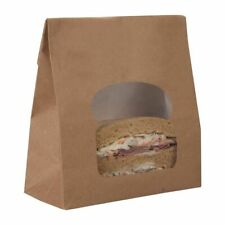 Colpac Recyclable Kraft Sandwich Bags With Window (Set of 250) [FA382]
