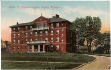 St. Francis Hospital in Topeka KS Postcard 1911