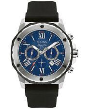 Strap Stainless Steel Case Watch 98B258 *Brand New* Bulova Men's Black Silicone