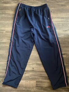Ecko VINTAGE sport pants navy blue with logo and stripe - men's small?