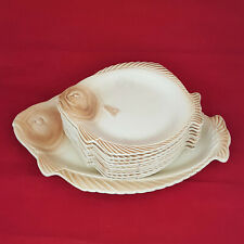 More details for burleigh ware fish service plates set - 12 plates