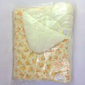 Baby Sleeping Bag Quiltex Zip A Quilt Vintage Downlon Bunny Rabbit 34 x 43 NEW