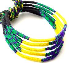 Lot 5 Bracelets Brésiliens de l'Amitié Macramé coton Friendship vert jaune noir