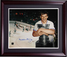 Bobby Orr Boston Bruins Signed Framed 16x20 dive photo Stanley Cup auto Orr COA