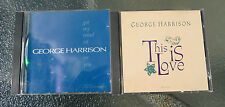 """George Harrison Promo CDs """"Got my mind set on you"""" + """"This is Love"""""""