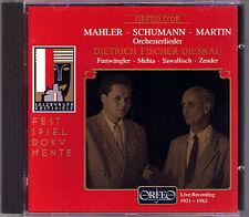 FISCHER-DIESKAU: MAHLER Lieder eines fahrenden Gesellen SCHUMANN FURTWÄNGLER CD