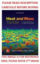 Heat and Mass Transfer by Cengal 6th International Softcover Ed Same Book