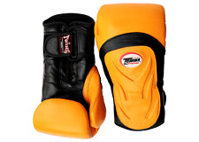 Twins Special Boxing Gloves Yellow-Black12 oz