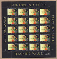 {BJ Stamps}  #3556   Mentoring a Child.  34¢ MNH sheet of 20.  Issued in 2002