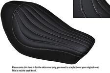 Punto Blanco línea diseño personalizado se adapta a Harley Sportster Iron 883 Solo cubierta de asiento