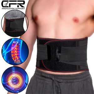 Adjustable Lumbar Back Support Magnetic Belt Lower Waist Heating Pain Relief US