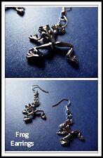 ed,Drop,Unisex,Danglies,Ea rrings,Gift,Unusual Cute Frog Earrings,Amphibians,Pierc
