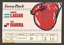 Luna Park Stadium Boxing World Cup Ticket USED Laciar vs Ibarra 1981