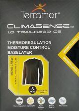 Terramar Mens Climasense 1.0 Thermoregulation Crew Neck Baselayer Shirt Small