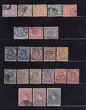 1902-1905 Netherland Indies Numeral & Queen Willhelmenia Sc#38-43-50a-60/61 ~
