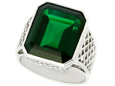 Vintage Circa 1940 10.94ct Tourmaline and 18k White Gold Gent's Ring