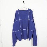 Vintage NAUTICA Small Logo Knitted Sweatshirt Jumper Blue | XL