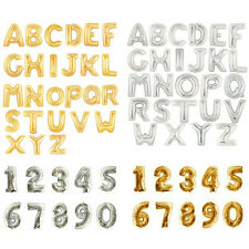 16 40 Inch Gold Silver Foil Letter Number Balloons Birthday Wedding Party Decor