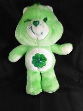 """Vintage Care Bear GOOD LUCK Bear Four Leaf Clover 1983 12"""" Plush Toy"""