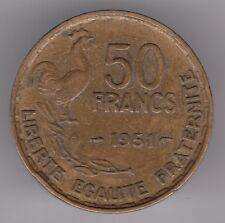 FRANCIA 1951 FRANCHI 50 aluninmun-Bronzo Coin