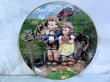 """Danbury Mint M J Hummel  """" Country Crossroads """" Plate Excellent Condition"""