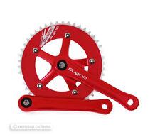 "NEW Sugino MESSENGER RD Single Speed Track Crankset 46T 165mm 1/8"" RED"