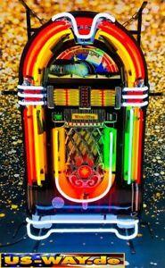 """N-0118 Neon """"Jukebox"""" Schild Leuchtreklame USA Diner Neonreklame Vintage Retro"""