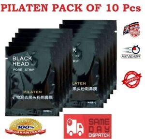 10X Black Face Mask Deep Pore Mud Cleansing PILATEN Blackhead Remover Peel Off