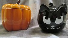 PARTYLITE PUMPKIN PATCH & SLY BLACK CAT~CANDLEor CANDY~NIB~HALLOWEEN READY~NEW