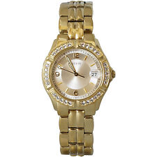 U85110L1 Guess Womens Stainless Steel Gold Tone Dazzling Midsize Watch