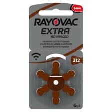 Rayovac Extra libre de mercurio Audífono Baterías X60 Tamaño 312