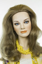 Light Ash Brown  Champagne Blonde Frost Blonde Long Human Hair Skin Top Wav Wigs