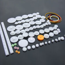 75 pcs lot Plastic Gear Set DIY Rack Pulley Belt Worm Single Double Gears Gift