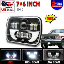 "7X6"" BLACK Hi/Lo LED Headlight Headlamp Sealed Beam Projector For 1978-86 F150"