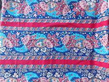 Estate Fabric Concord Kessler Floral Flower Garden Ornate Blue Red BTY Quilt
