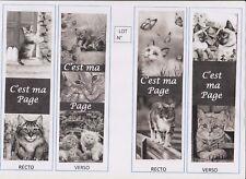 2 marque-pages plastifiés Thème CHAT lot N°57