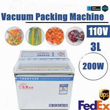 3l Commercial Vacuum Sealer 200w Food Vacuum Sealing Packing Machine 110v Usa