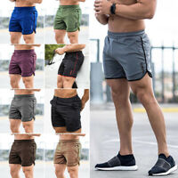 Mens Fitness Sports Shorts Football Pants Quick Dry Gym Workout Training Running