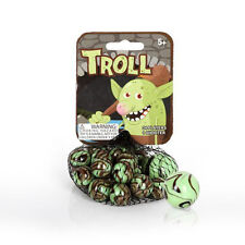 Mega Marbles Themed- 24 Player Marbles (5/8'') - 1 Shooter (1'')- (Troll)