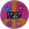 Peace Sign Patch Iron Sew On Cloth Floral Flower Hippie Symbol Embroidered Badge