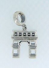 2010-3381 CHAMILIA STERLING SILVER ARC DE TRIOMPHE CHARM NEW WITH POUCH LIMITED