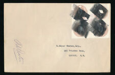 GB 1916 POSTAL STATIONERY 4 x 3d STO BLOCK + FIELD POST OFFICE CENSOR on COVER