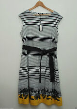 Boat Neck Striped Plus Size Dresses for Women